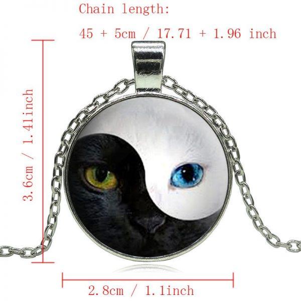 Yin Yang Cat Eye Pendant