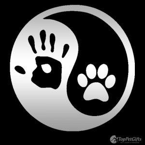 Yin Yang Hand & Paw Decal