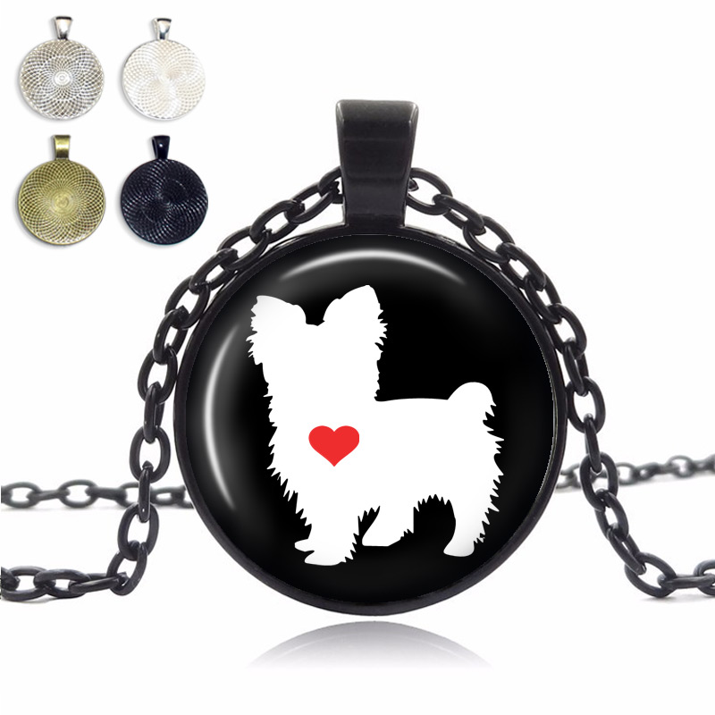 Yorkshire Terrier Love Glass Dome Necklace