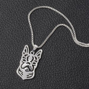 Boston Terrier hollow necklace