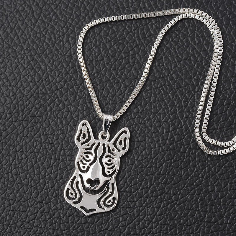 Bull Terrier hollow necklace