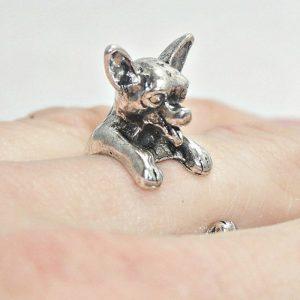 Vintage Chihuahua wrap ring