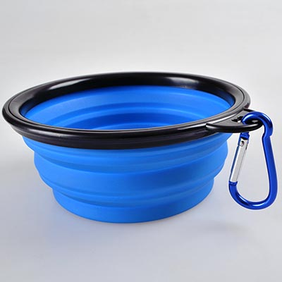 Portable Dog Water Bottle >> Collapsible Silicone Dog Bowl - Top Pet Gifts