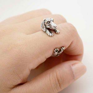 Dachshund wrap ring