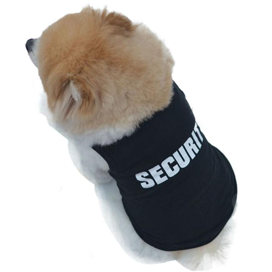 Dog security shirt outfit