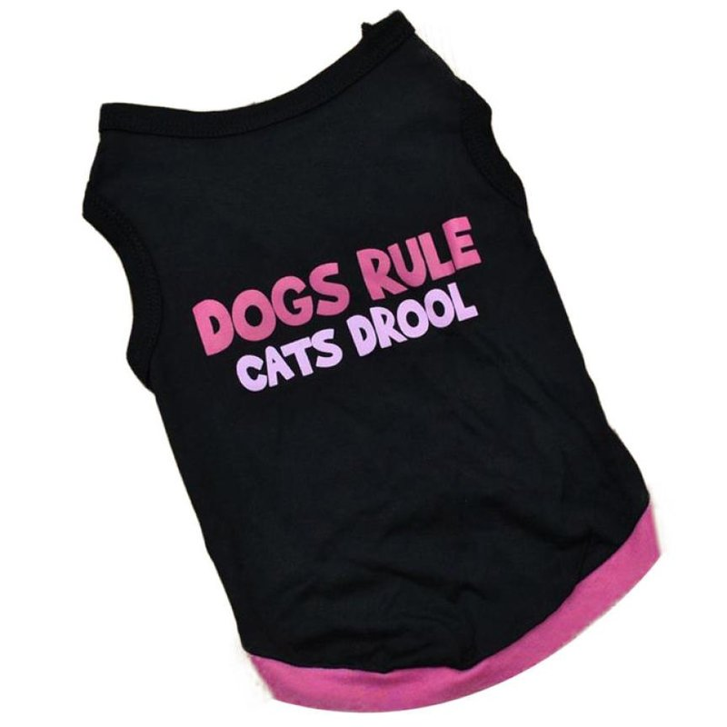 Dog Tshirt - Dogs Rule Cats Drool