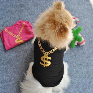 Dog Tshirt - Dollar Chain