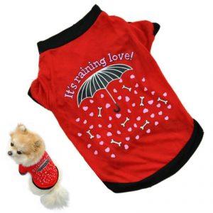 Dog Tshirt - It's Raining Love!
