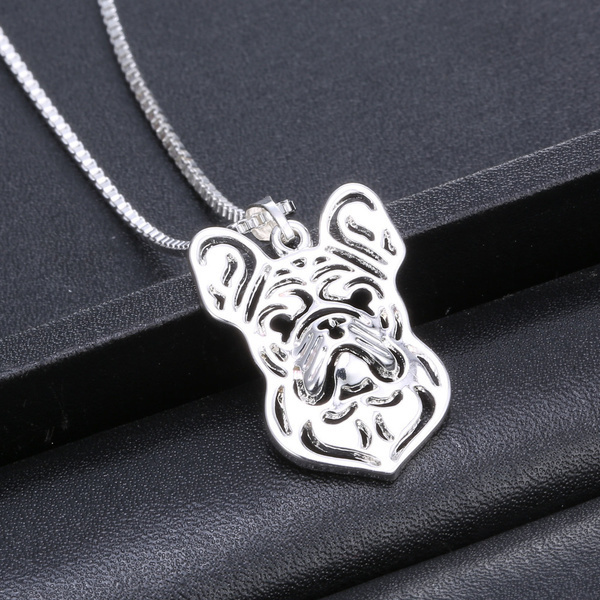 French Bulldog hollow necklace