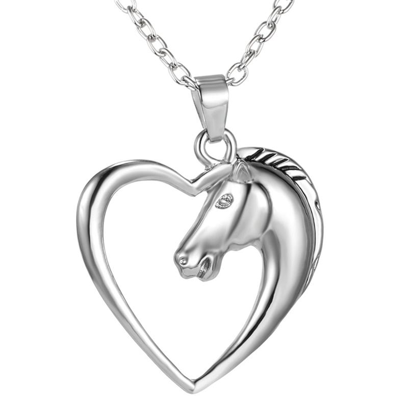 Horse heart pendant necklace