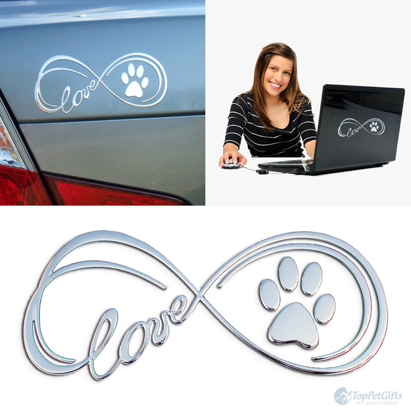 Infinity paw love 3D decal