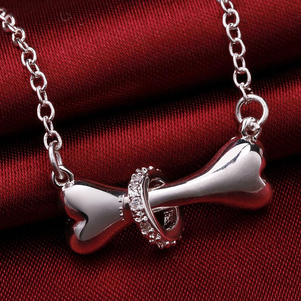 Silver Dog Bone Necklace