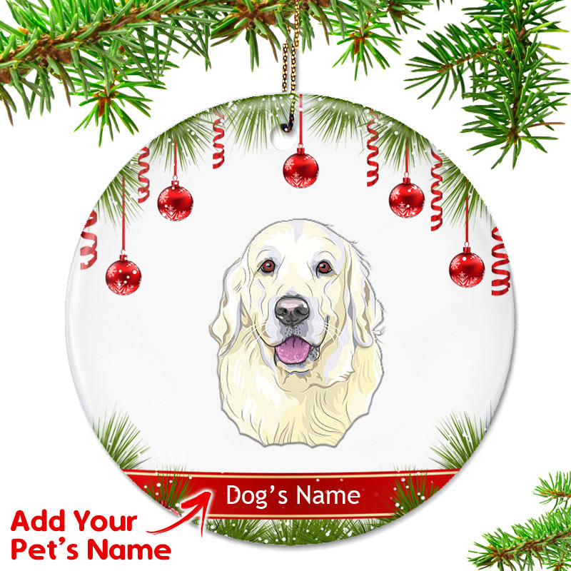 personalized golden retriever ornament light top pet gifts