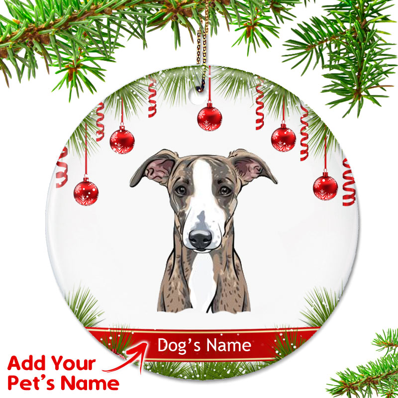 Personalized Italian Greyhound Ornament Brindle