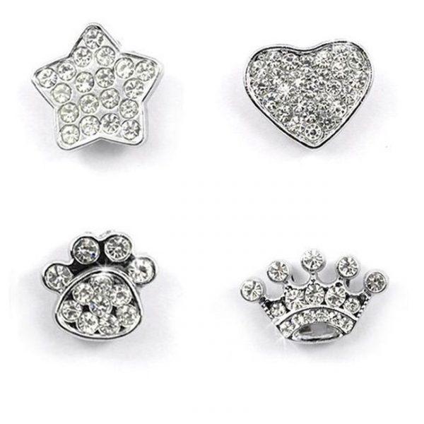 Personalized rhinestone cat collar charms