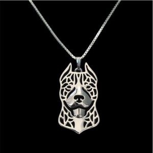 Pit Bull hollow necklace