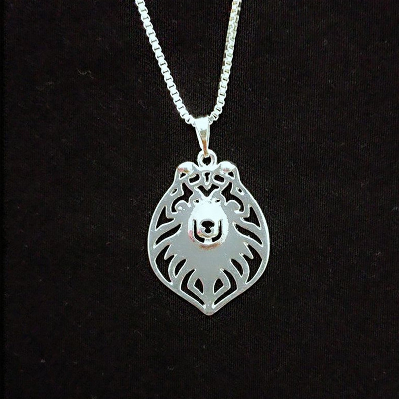 Rough Collie hollow necklace