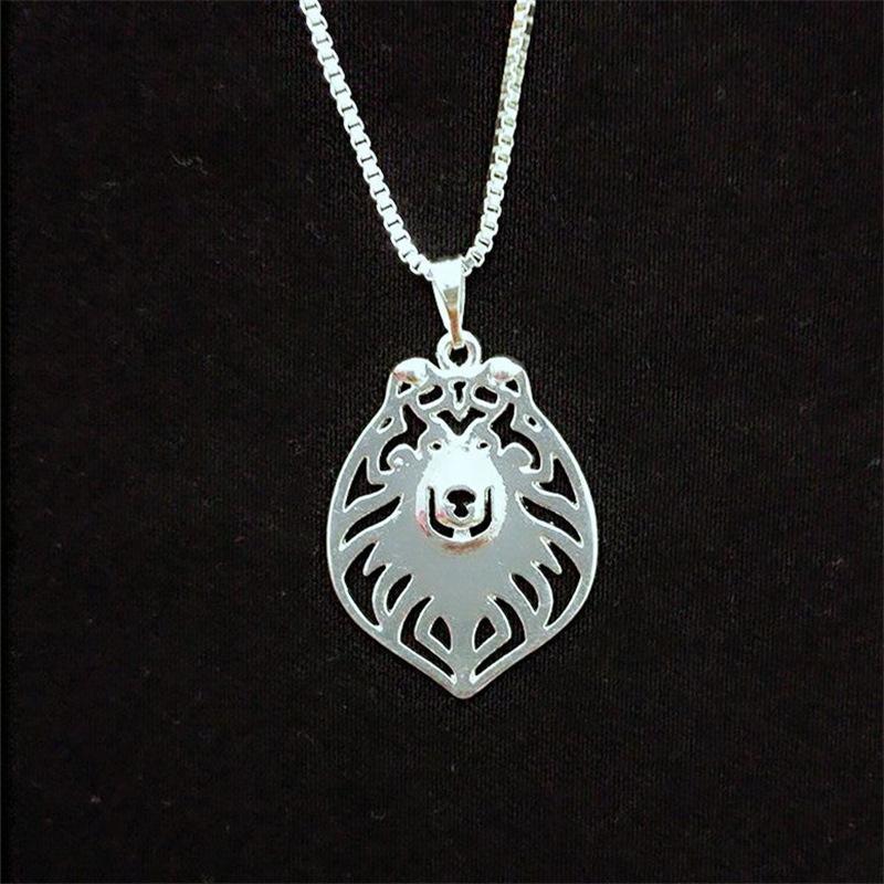 Rough Collie hollow necklace