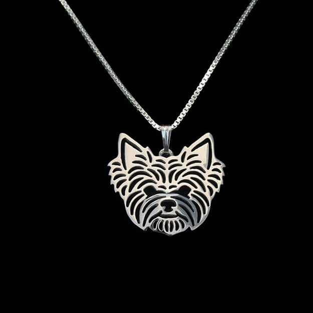 Yorkshire Terrier hollow necklace